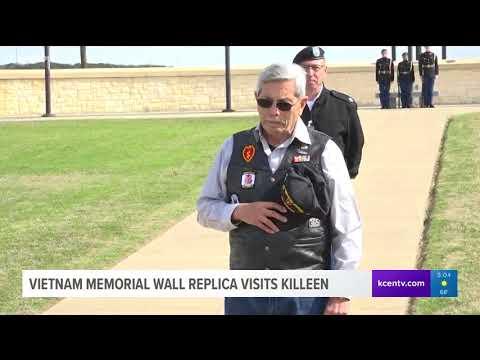 Vietnam memorial wall replica visits Killeen
