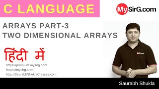 Lecture 12 Two Dimensional Arrays in C Part 1 Hindi