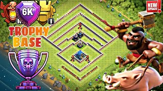 TH12 STRONG DEFENSIVE LEGEND BASE WITH REPLAYS | TH12 BEST TROPHY BASE 2019 - Clash of Clans