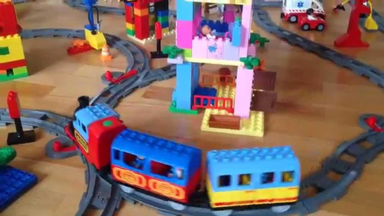 Лего дупло железная дорога - YouTube