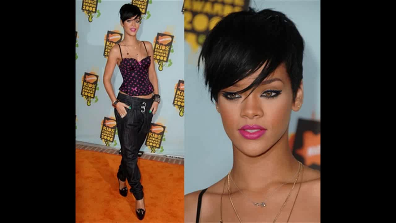 2019 year for girls- Short rihanna hair cut
