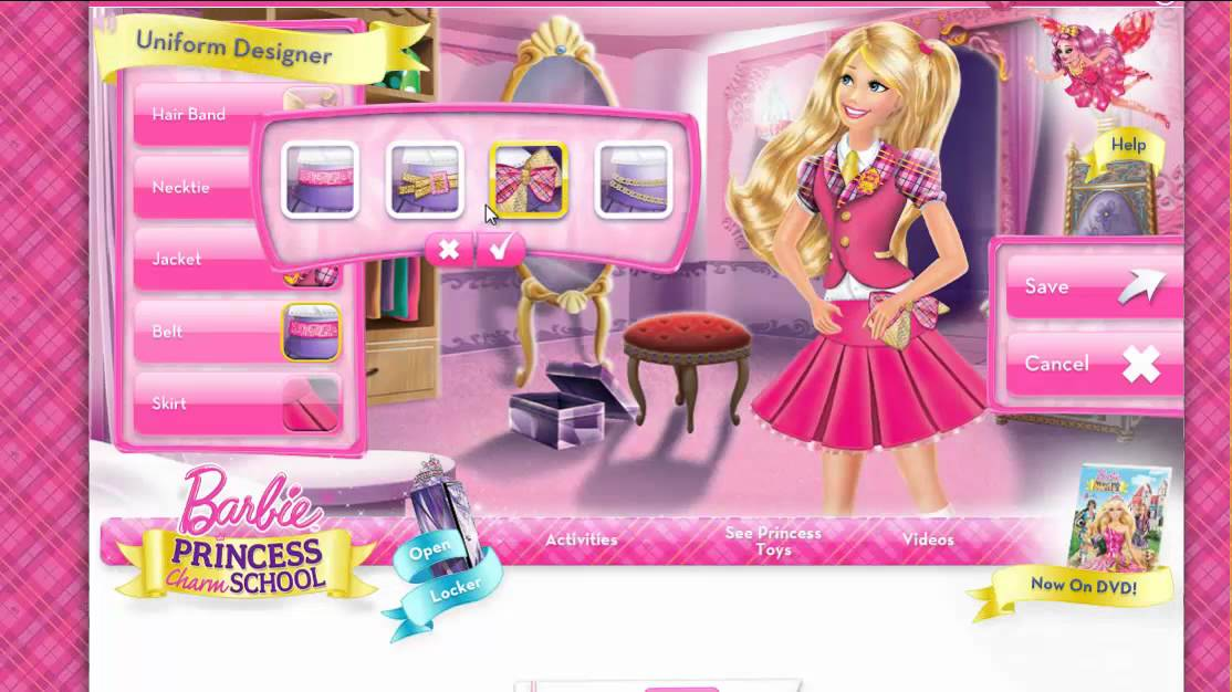 ❦ Barbie Princess Charm School Gameplay ❦   YouTube