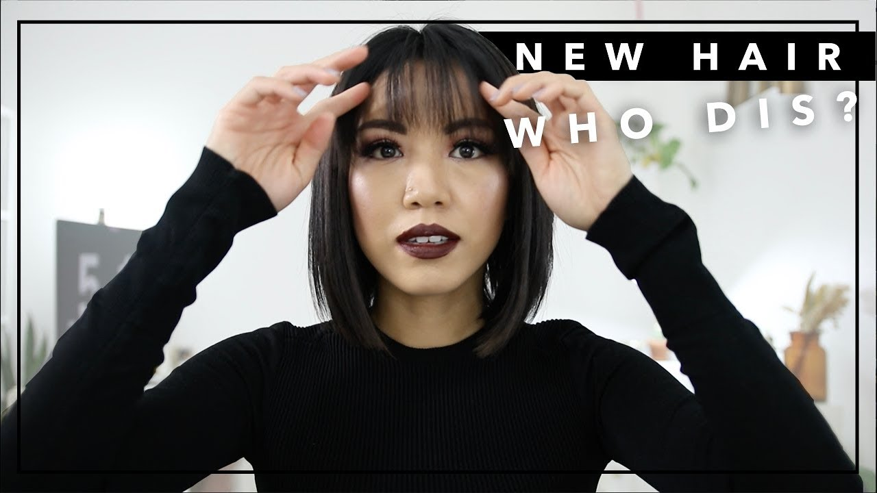New Hair Who Dis Bob Cut With Bangs How I Style My Short Hair Everyday Beautybitten Youtube