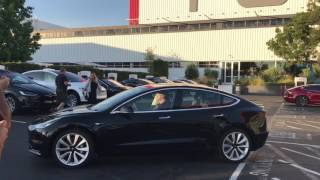 Tesla Model3 first car out of the production line