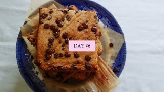 THE HBOT VLOGMAS DAY #6 // RECIPE: Chocolate Almond Butter Blondies
