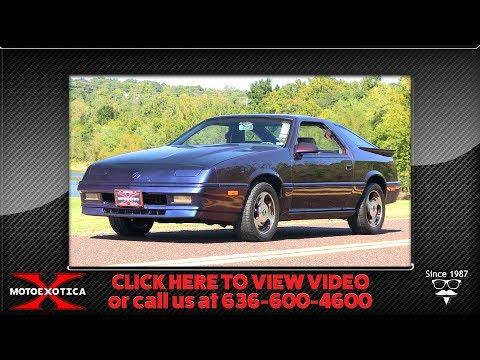 1987 Dodge Daytona Shelby Turbo Z -- For Sale @ MotoeXotica