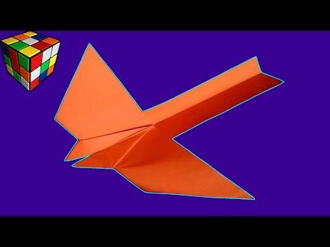 Как сделать летающую птицу из бумаги