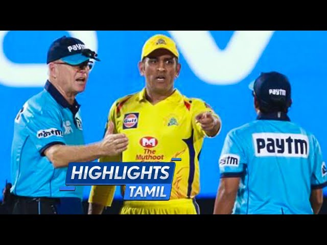 Thala Dhoni Gets ANGRY On Umpire for the First Time! Full Match RR v CSK Highlights Tamil