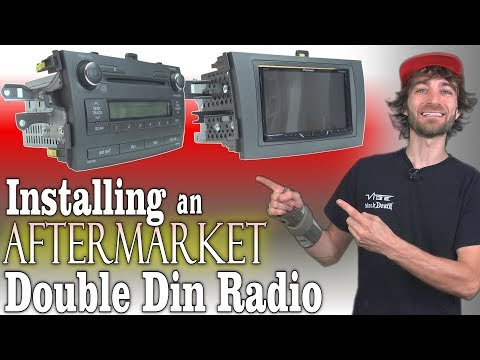 How To INSTALL Aftermarket Car Radio W/ Pioneer Double Din Head Unit | UPGRADE Stock Stereo System