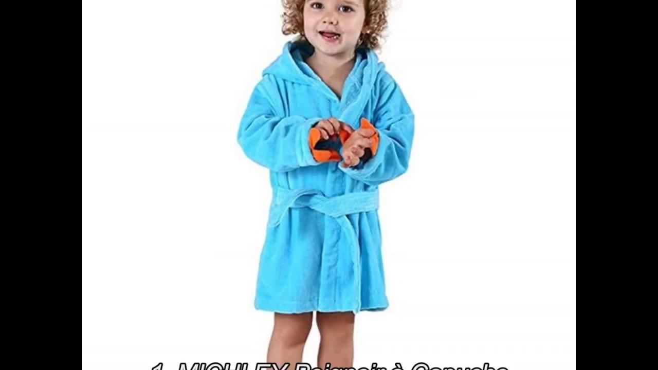 MICHLEY B/éB/é Peignoir Coton Mignonne Visage danimal Hooded Enfant Serviette Peignoir de Bain pour gar/çons Filles de 0-6 Ans