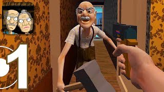 Grandpa And Granny Escape - Gameplay Walkthrough Part 1 - Chapter 1 (iOS, Android)