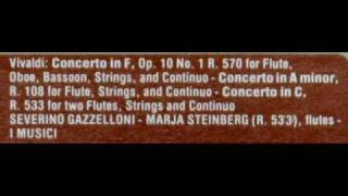 """Vivaldi / Severino Gazzelloni, 1968: """"La Tempesta Di Mare"""" - Concerto in F, Op. 10, No 1, RV 570"""