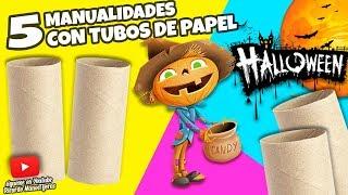 5 MANUALIDADES CON TUBOS DE PAPEL HIGIÉNICO PARA HALLOWEEN|Manualidades Reciclaje|DIY