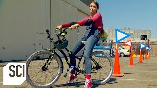 Riding a Bike With Duct Tape Tires | MythBusters Jr.