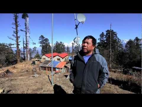 Mahabir Pun explains the Nepal Wireless relay station in Mahore, Nepal