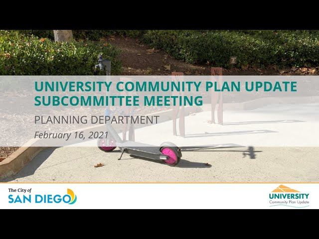 University CPU - Public Meeting - February 16, 2021 - Mobility (Part One)