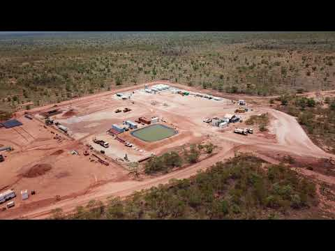 Aerial View of Ungani Production Facility & Drilling Operations at Ungani 4