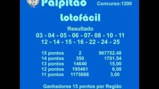 LOTOFACIL CONCURSO 1200  24042015
