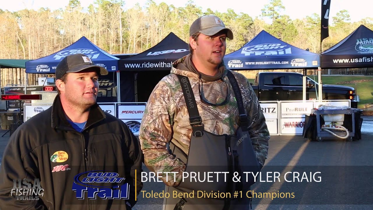 2016 Bud Light Trail   Toledo Bend Division #1   Tyler Craig Brett Pruett    YouTube Awesome Design