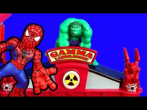 Marvel Superhero Squad Gamma Lab Adventure Spider-man Hulk ...