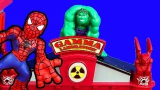 Marvel Superhero Squad Gamma Lab Adventure Spider-man Hulk Imaginext Joker Two Face Bane