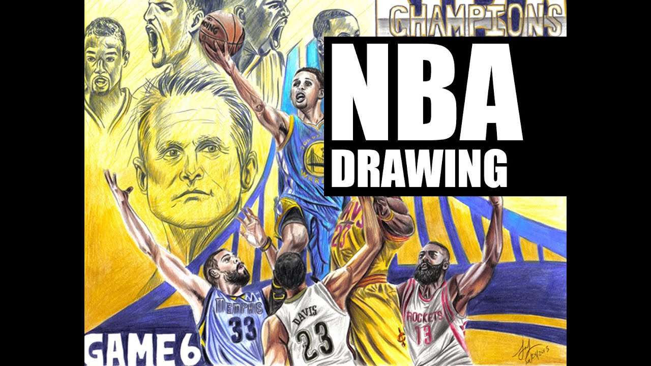 2015 NBA Finals Drawings | Golden State Warriors Champions - YouTube