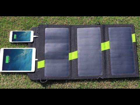 Солнечная панель для походов с AliExpress