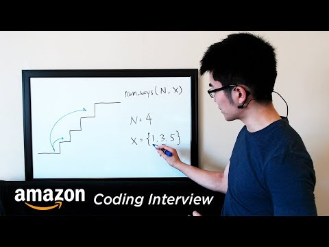 Amazon Coding Interview Question - Recursive Staircase Probl