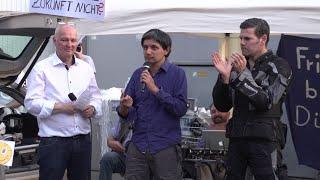 Montags-Mahnwache für den Frieden, 07.07.2014, Düsseldorf, 2.Teil, mit Ken Jebsen & Pedram Shahyar