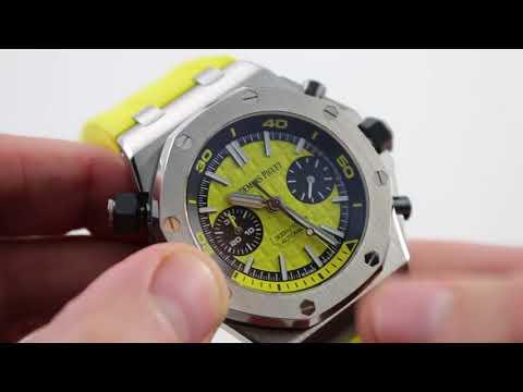 Audemars Piguet Royal Oak Offshore Diver Chronograph Yellow 26703ST.OO.01 Watch Review