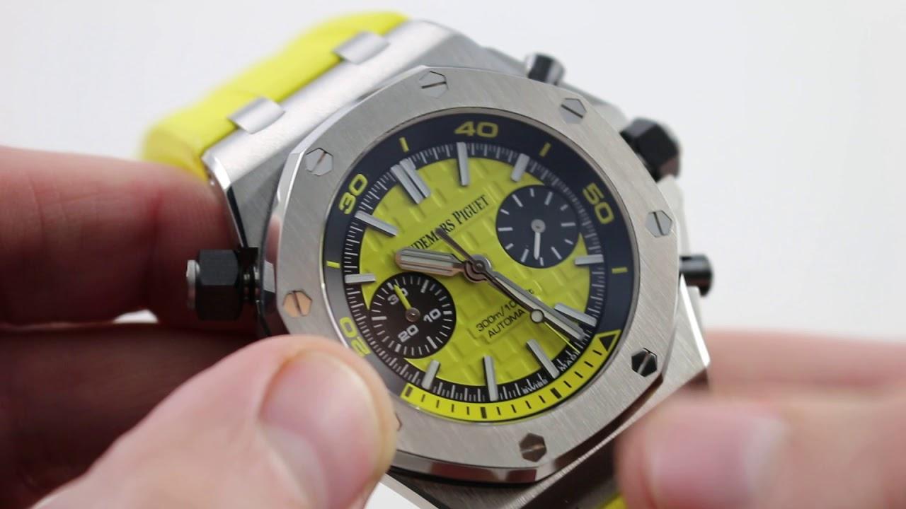 b44b9aca03d Audemars Piguet Royal Oak Offshore Diver Chronograph Yellow  26703ST.OO.A051CA.01 Watch Review