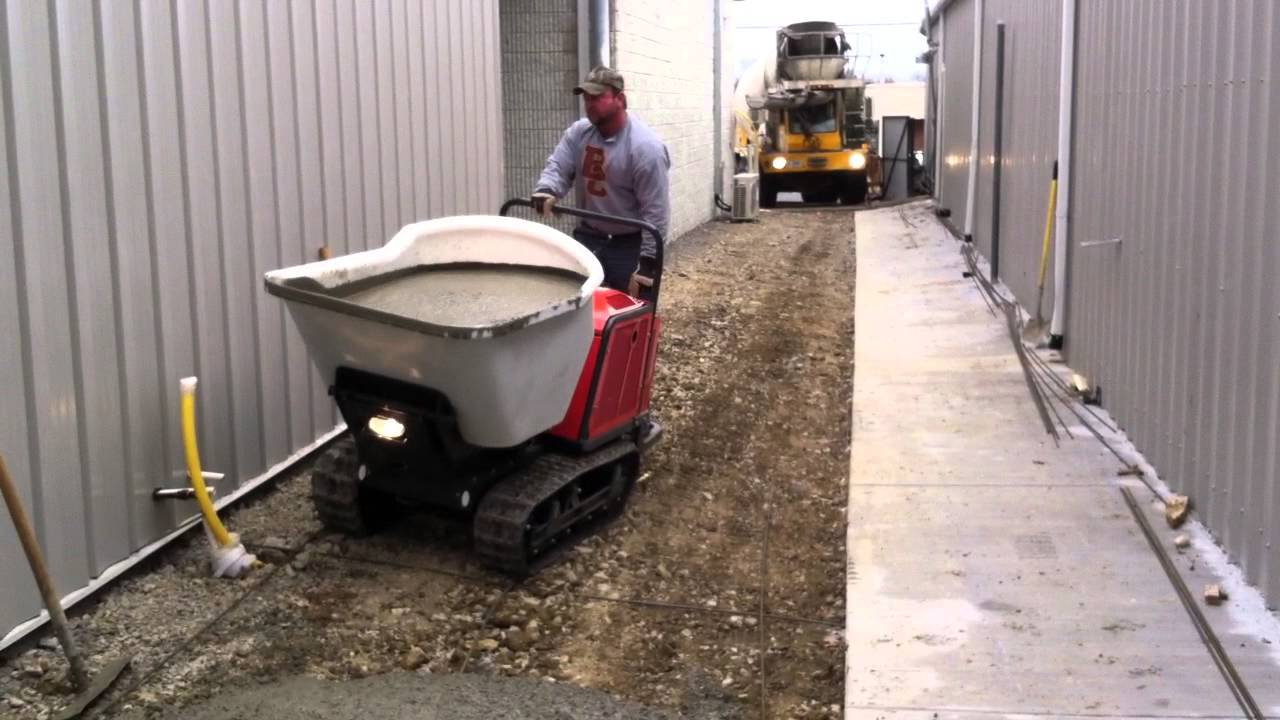 concrete buggy with tracks