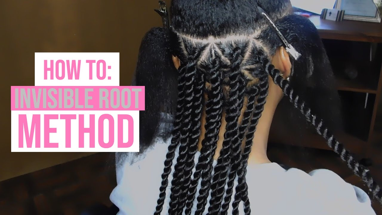 How To Senegalese Rope Twist Invisible Root Method