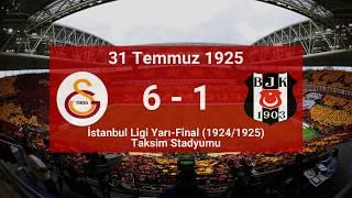 Galatasaray'ın En Farklı Skorla Kazandığı Beşiktaş Maçları