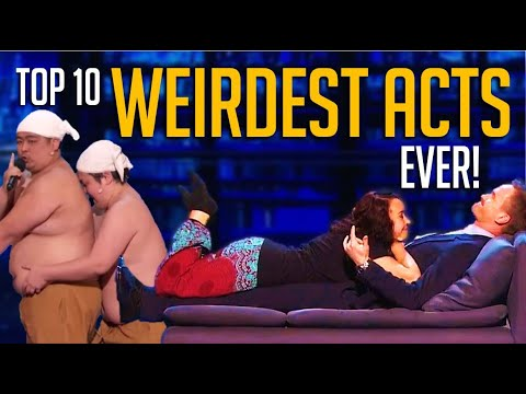 Top 10 WEIRDEST ACTS EVER on America's Got Talent! 🤣😂 🙈