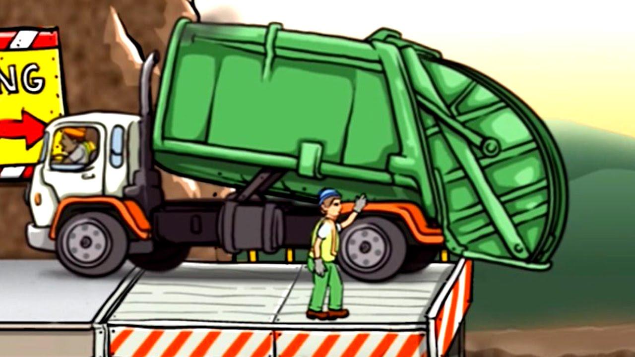 เกมส์ รถขยะ รถบรรทุกขยะ ทำภารกิจ - Garbage Truck วีดีโอสำหรับเด็ก