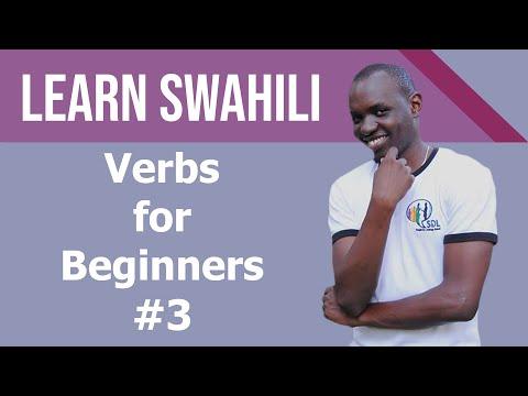 Swahili verbs for beginners, tutorial #2