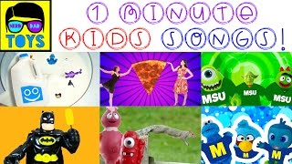 One Minute Kid Songs Playlist   Silly Kids Dance Songs   Food Songs for Children #KidsMusic