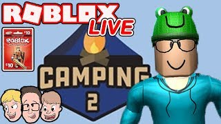 Roblox Camping 2 LIVE with Schlamaddy | Enter our Robux Giveaway | Family Friendly