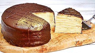 チョコレートミルクレープの作り方 How to make Chocolate Mille Crepe
