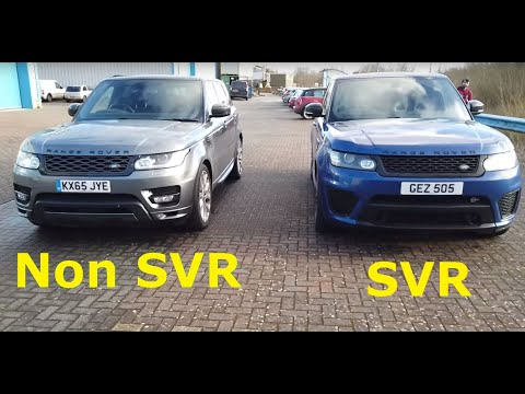 We Compare A Real SVR To Our Supercharged 5L Range Rover Sport L494