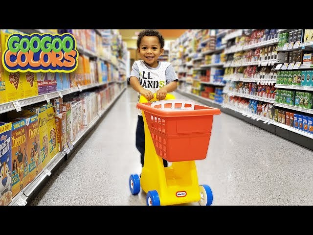Where Are The Groceries? (Learn to Shop Healthy with Goo Goo Colors)