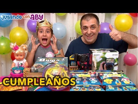 🎁 Abriendo REGALOS Del CUMPLEAÑOS DE ABY 🎂🎉 Tarta Y Piñata En Directo.