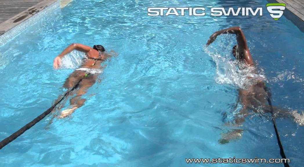 Swimming Harness And Pool Resistance Bands For Mild Swimming Youtube
