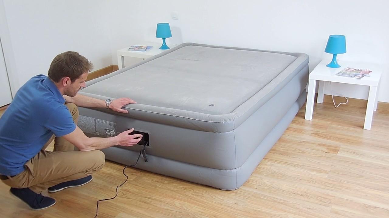 Cama hinchable intex foam top bed fiber tech 2 personas for Sillones que se hacen cama