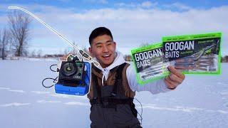 Ice Fishing with GOOGAN BAITS! (Do They Work?)