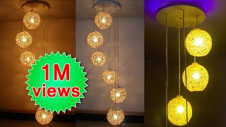 How to make a homemade wrapped balloon lamp | Homemade lamp | DIY | Easy to make
