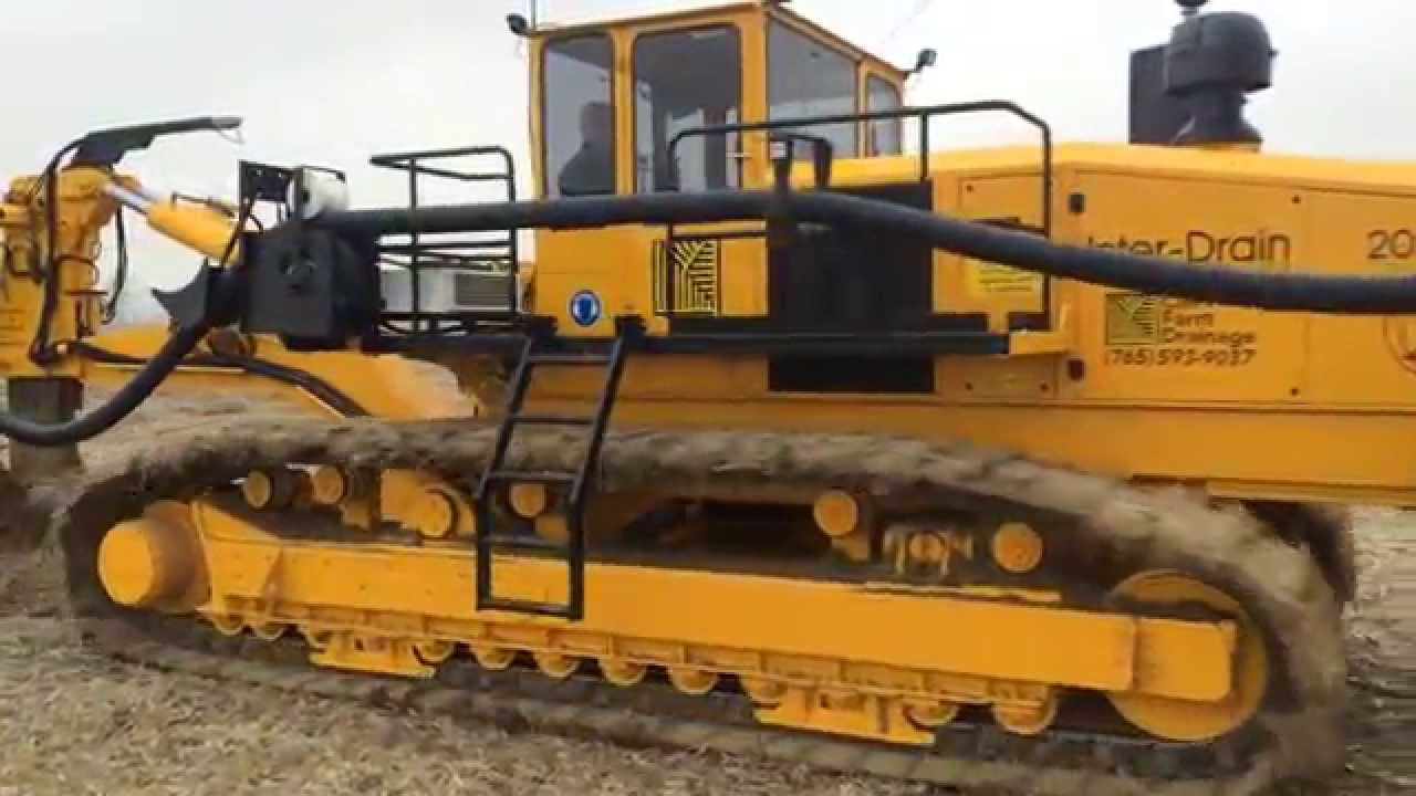 Inter Drain 2050 Sp Tile Plow 4 Inch Install Youtube