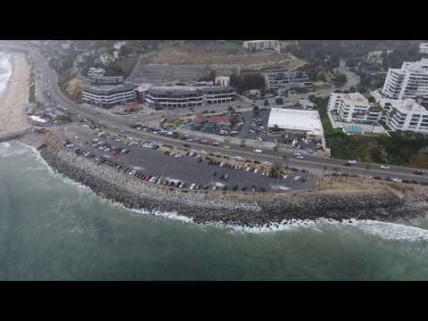 Seafood And Surfers At Malibu With The Phantom 4