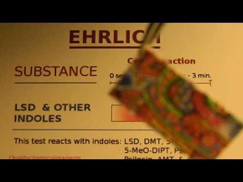 LSD  Ehrlich Reagent Drug Test (Lysergic Acid Diethylamide / Acid)
